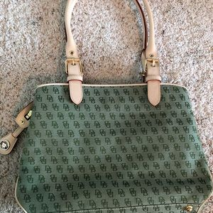 Dooney & Bourke Green Monogram Purse & Accessories
